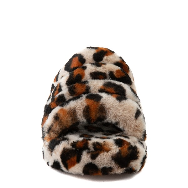 alternate view UGG® Fluff Yeah Slide Sandal - Little Kid / Big Kid - LeopardALT4