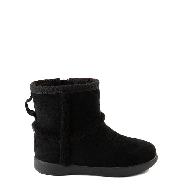 Main view of UGG® Classic Mini Fluff Spill Seam Boot - Toddler / Little Kid - Black