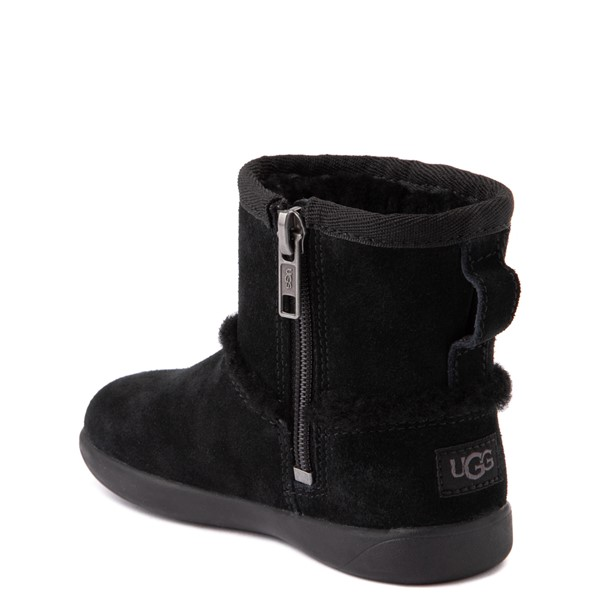 alternate view UGG® Classic Mini Fluff Spill Seam Boot - Toddler / Little Kid - BlackALT1
