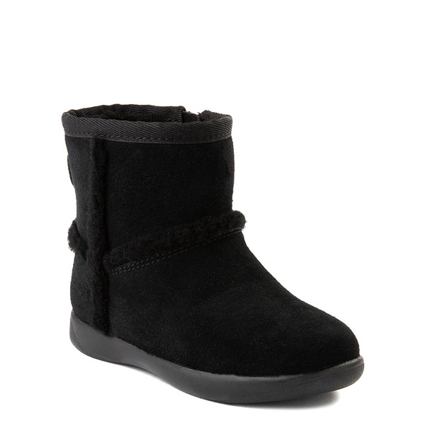alternate view UGG® Classic Mini Fluff Spill Seam Boot - Toddler / Little Kid - BlackALT5