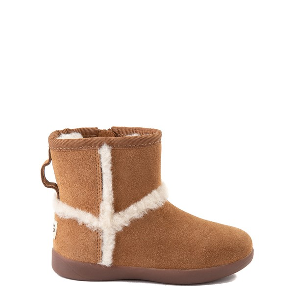 Main view of UGG® Classic Mini Fluff Spill Seam Boot - Toddler / Little Kid - Chestnut