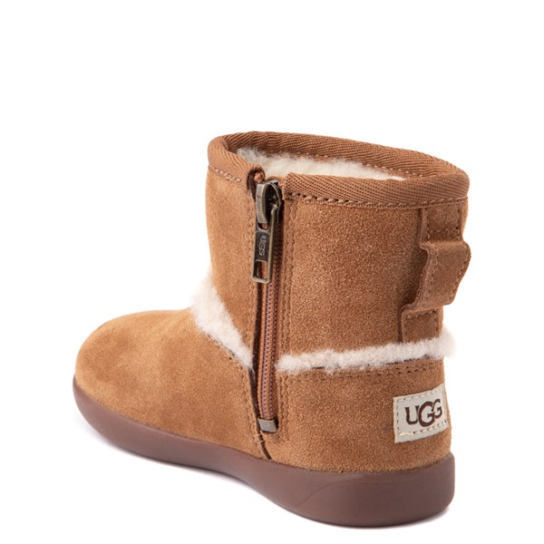 alternate view UGG® Classic Mini Fluff Spill Seam Boot - Toddler / Little Kid - ChestnutALT1