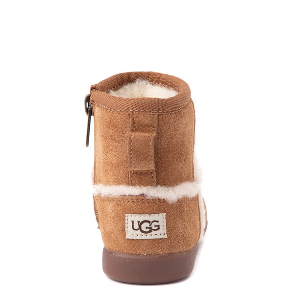 alternate view UGG® Classic Mini Fluff Spill Seam Boot - Toddler / Little Kid - ChestnutALT4