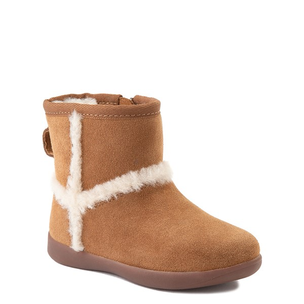 alternate view UGG® Classic Mini Fluff Spill Seam Boot - Toddler / Little Kid - ChestnutALT5