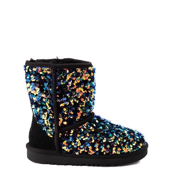 Main view of UGG® Classic II Stellar Sequin Boot - Little Kid / Big Kid - Black