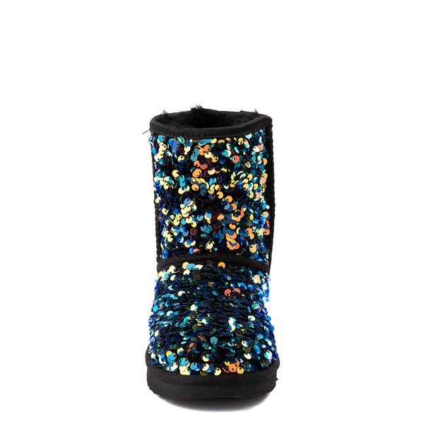 alternate view UGG® Classic II Stellar Sequin Boot - Little Kid / Big Kid - BlackALT4