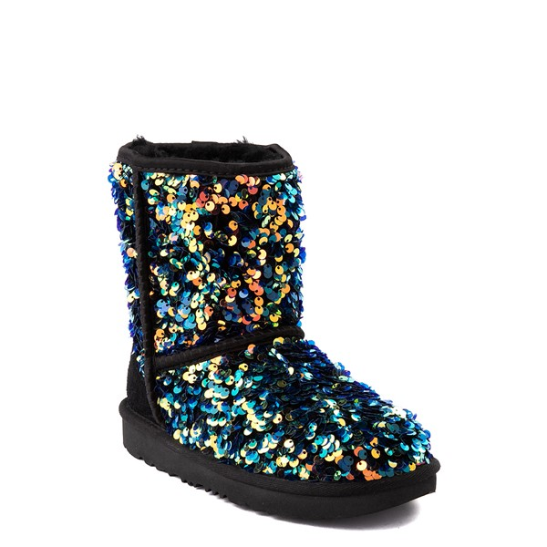 alternate view UGG® Classic II Stellar Sequin Boot - Little Kid / Big Kid - BlackALT5