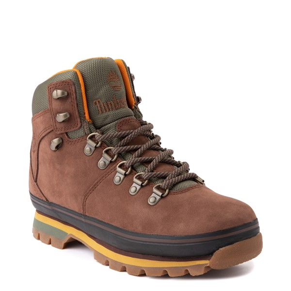 alternate view Womens Timberland Euro Hiker Boot - Dark BrownALT1