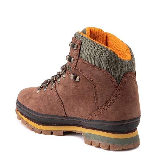 alternate view Womens Timberland Euro Hiker Boot - Dark BrownALT2