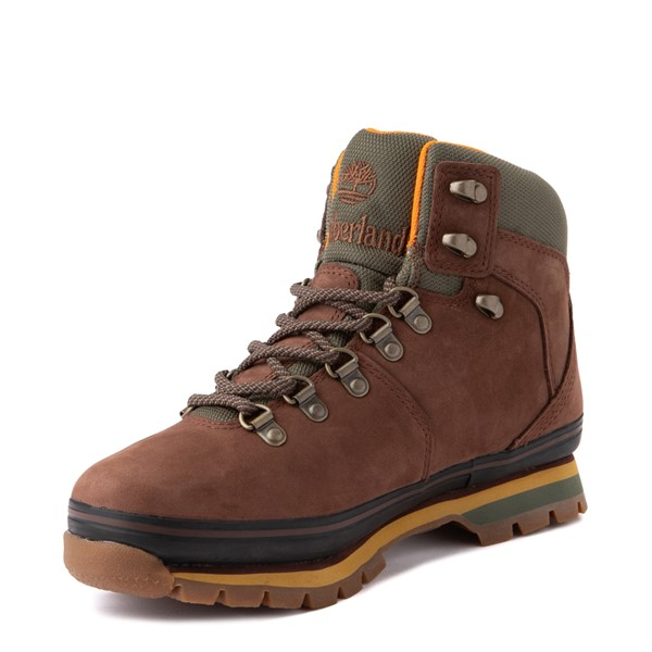 alternate view Womens Timberland Euro Hiker Boot - Dark BrownALT3