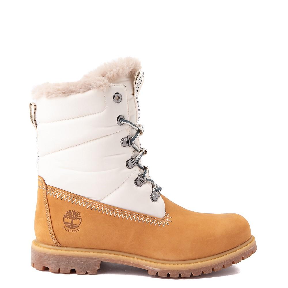 """Womens Timberland 6"""" Premium Puffer Boot - Wheat"""
