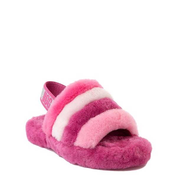 alternate view UGG® Fluff Yeah Slide Sandal - Little Kid / Big Kid - Pink / MulticolorALT1