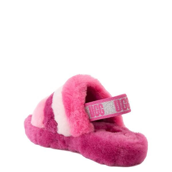 alternate view UGG® Fluff Yeah Slide Sandal - Little Kid / Big Kid - Pink / MulticolorALT2