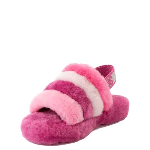alternate view UGG® Fluff Yeah Slide Sandal - Little Kid / Big Kid - Pink / MulticolorALT3