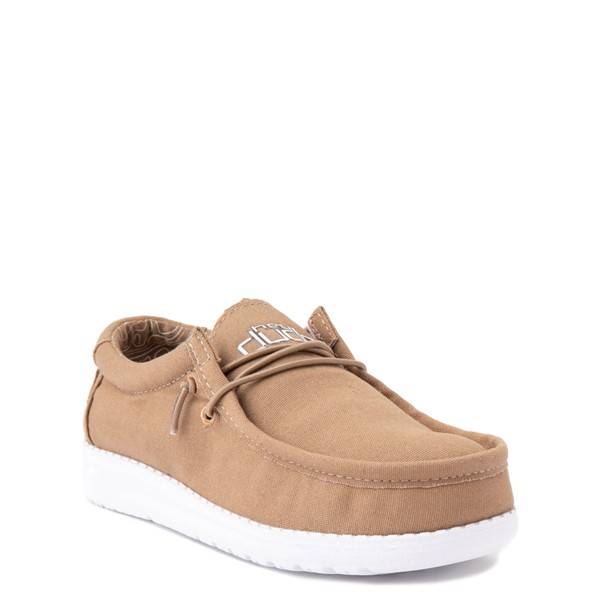 alternate view Hey Dude Wally Casual Shoe - Little Kid / Big Kid - TanALT5