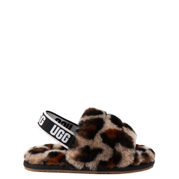 Main view of UGG® Fluff Yeah Slide Sandal - Toddler / Little Kid - Leopard