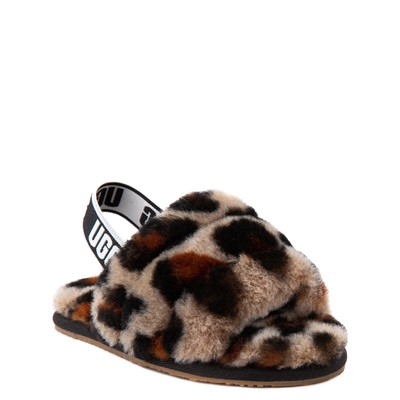 Alternate view of UGG® Fluff Yeah Slide Sandal - Toddler / Little Kid - Leopard