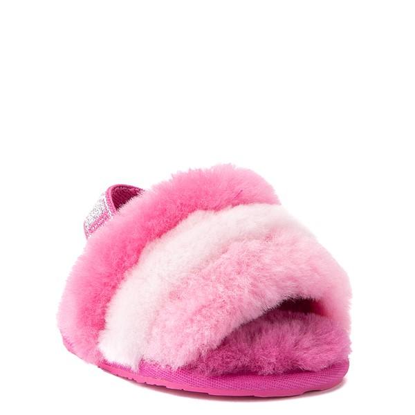 alternate view UGG® Fluff Yeah Slide Sandal - Baby / Toddler - Pink / MulticolorALT1