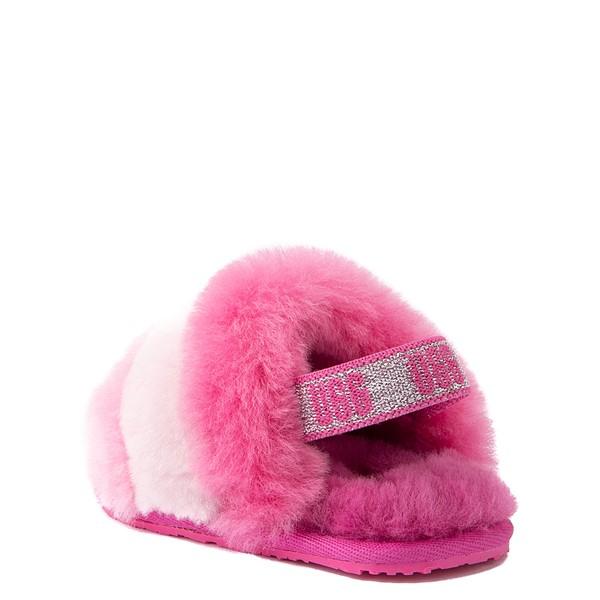 alternate view UGG® Fluff Yeah Slide Sandal - Baby / Toddler - Pink / MulticolorALT2