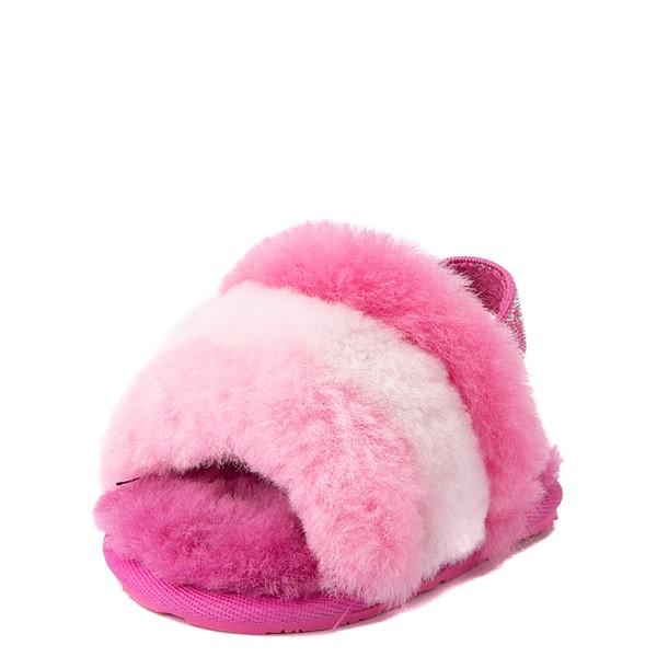alternate view UGG® Fluff Yeah Slide Sandal - Baby / Toddler - Pink / MulticolorALT3