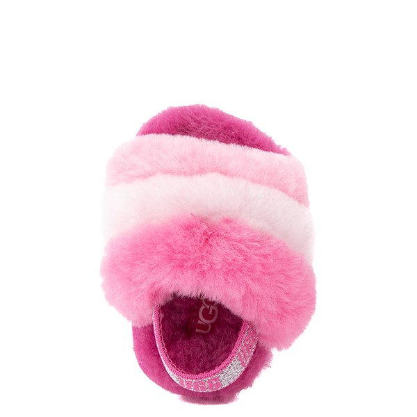 alternate view UGG® Fluff Yeah Slide Sandal - Baby / Toddler - Pink / MulticolorALT4B