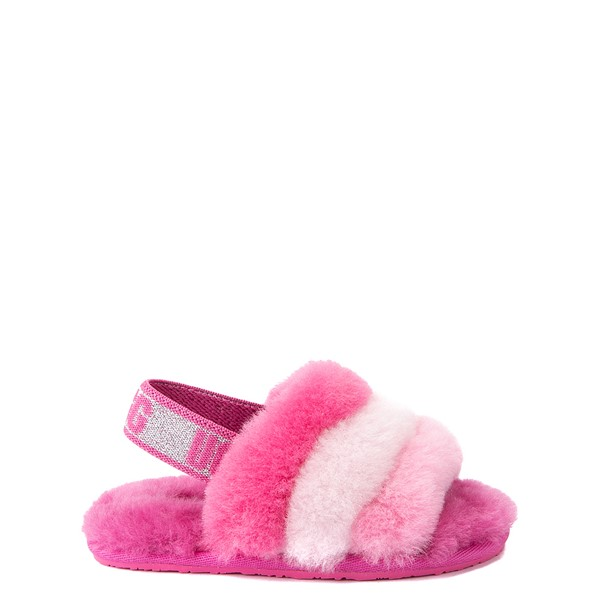 Main view of UGG® Fluff Yeah Slide Sandal - Toddler / Little Kid - Pink / Multicolor