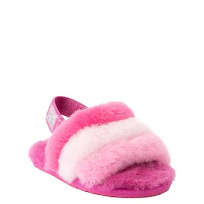 Alternate view of UGG® Fluff Yeah Slide Sandal - Toddler / Little Kid - Pink / Multicolor
