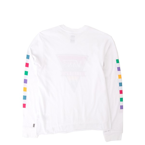 alternate view Vans Rainbow Triad Long Sleeve Tee - Little Kid / Big Kid - WhiteALT1