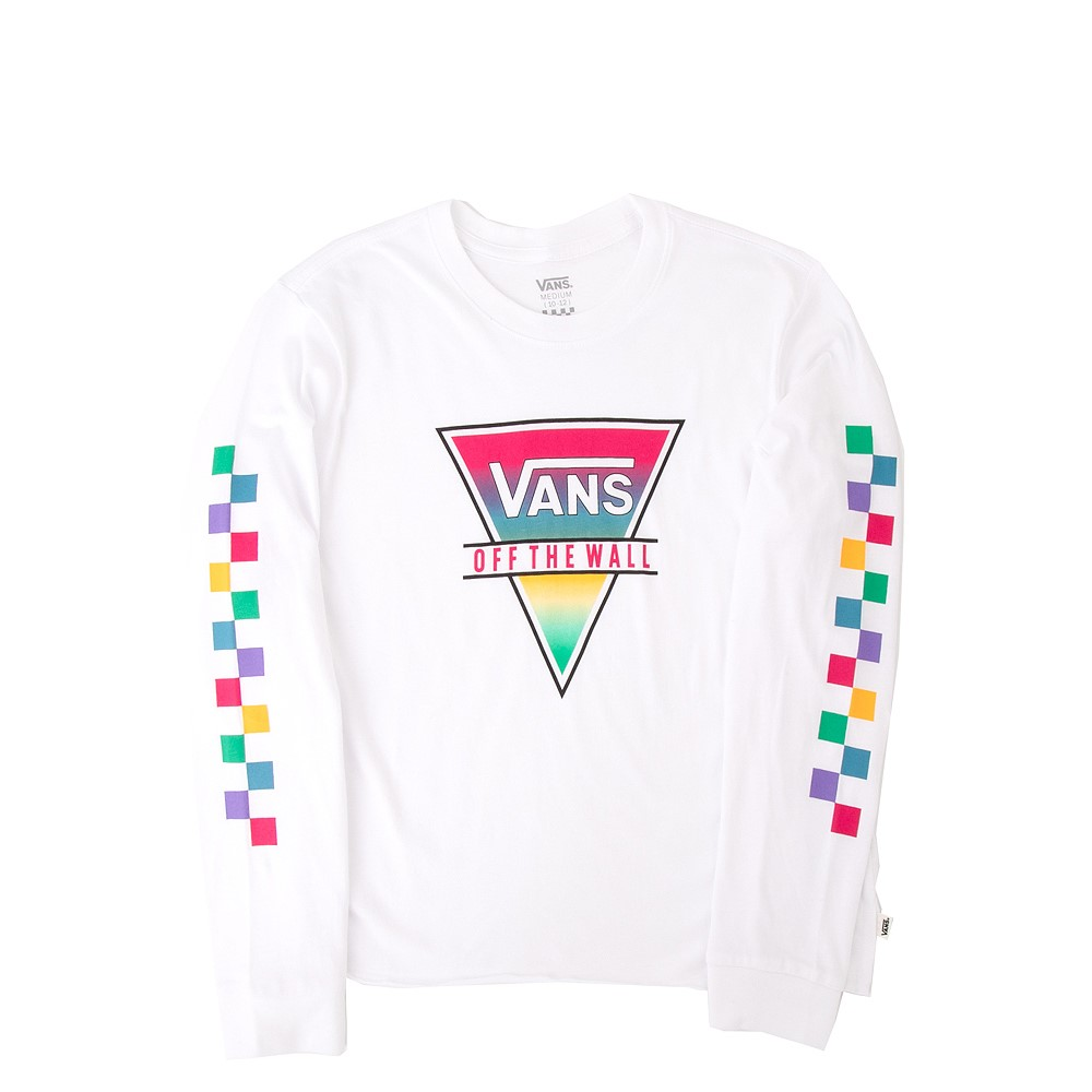 Vans Rainbow Triad Long Sleeve Tee - Little Kid / Big Kid - White