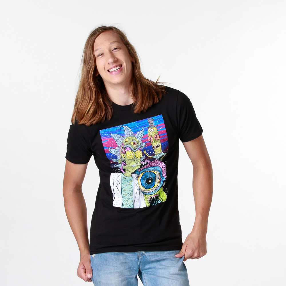 Mens Rick and Morty Eyeball Tee - Black