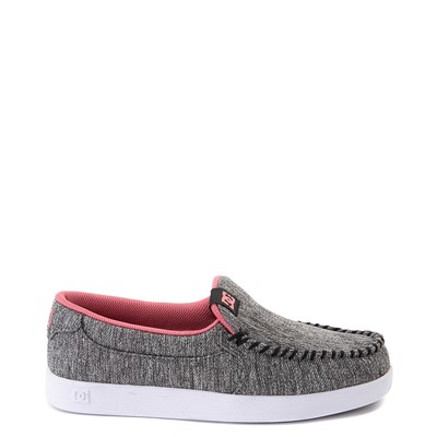 Main view of Womens DC Villain TX SE Skate Shoe - Heather Gray / Pink