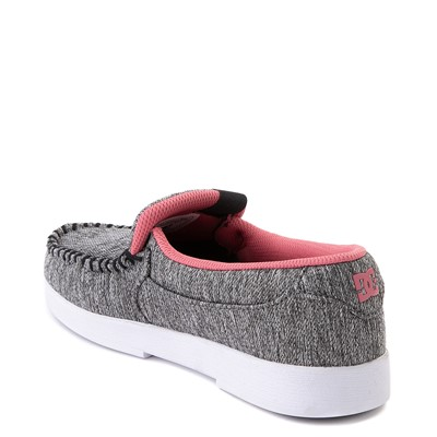 Alternate view of Womens DC Villain TX SE Skate Shoe - Heather Gray / Pink