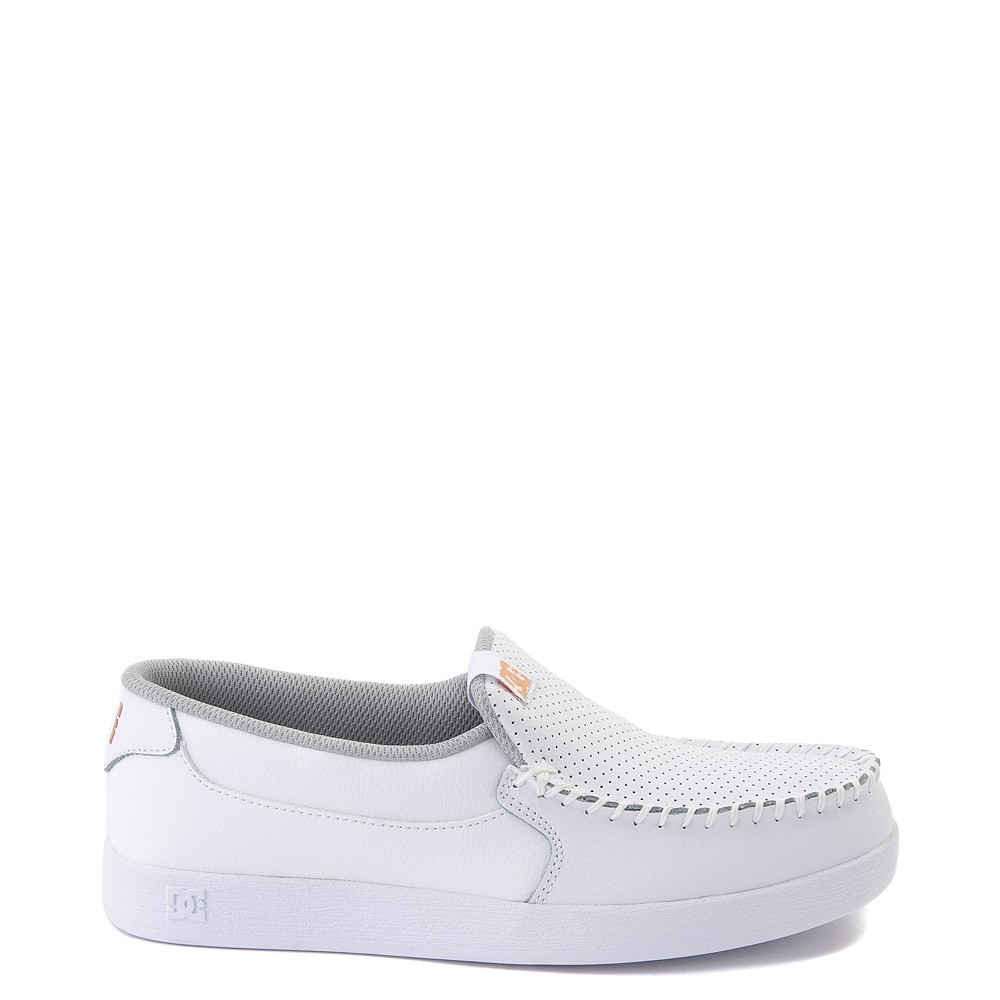Womens DC Villain SE Skate Shoe - White / Rose Gold