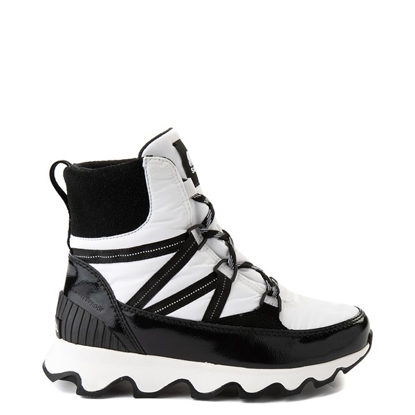 Main view of Womens Sorel Kinetic™ Sport Bootie - White / Black
