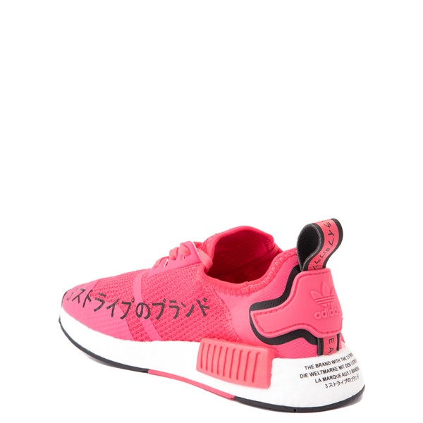 alternate view adidas NMD R1 Athletic Shoe - Big Kid - Pink / BlackALT1