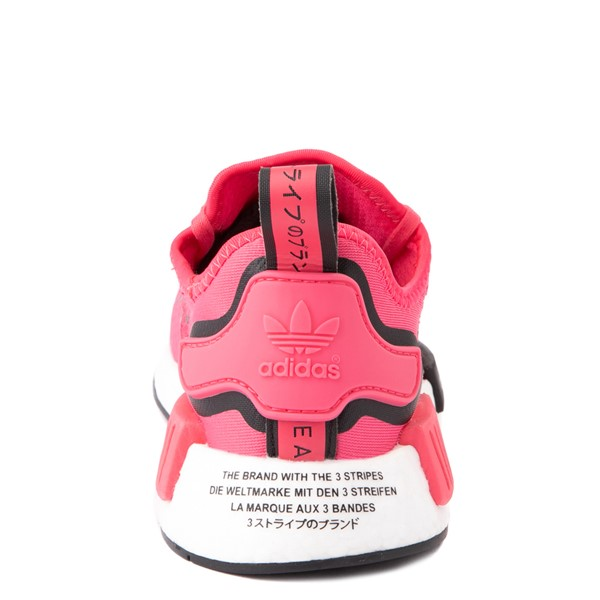 alternate view adidas NMD R1 Athletic Shoe - Big Kid - Pink / BlackALT4