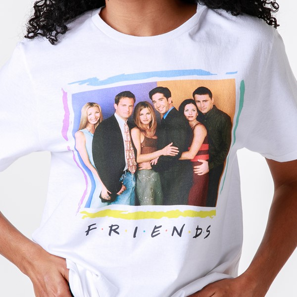 alternate view Womens Friends Group Shot Boyfriend Tee - WhiteALT2