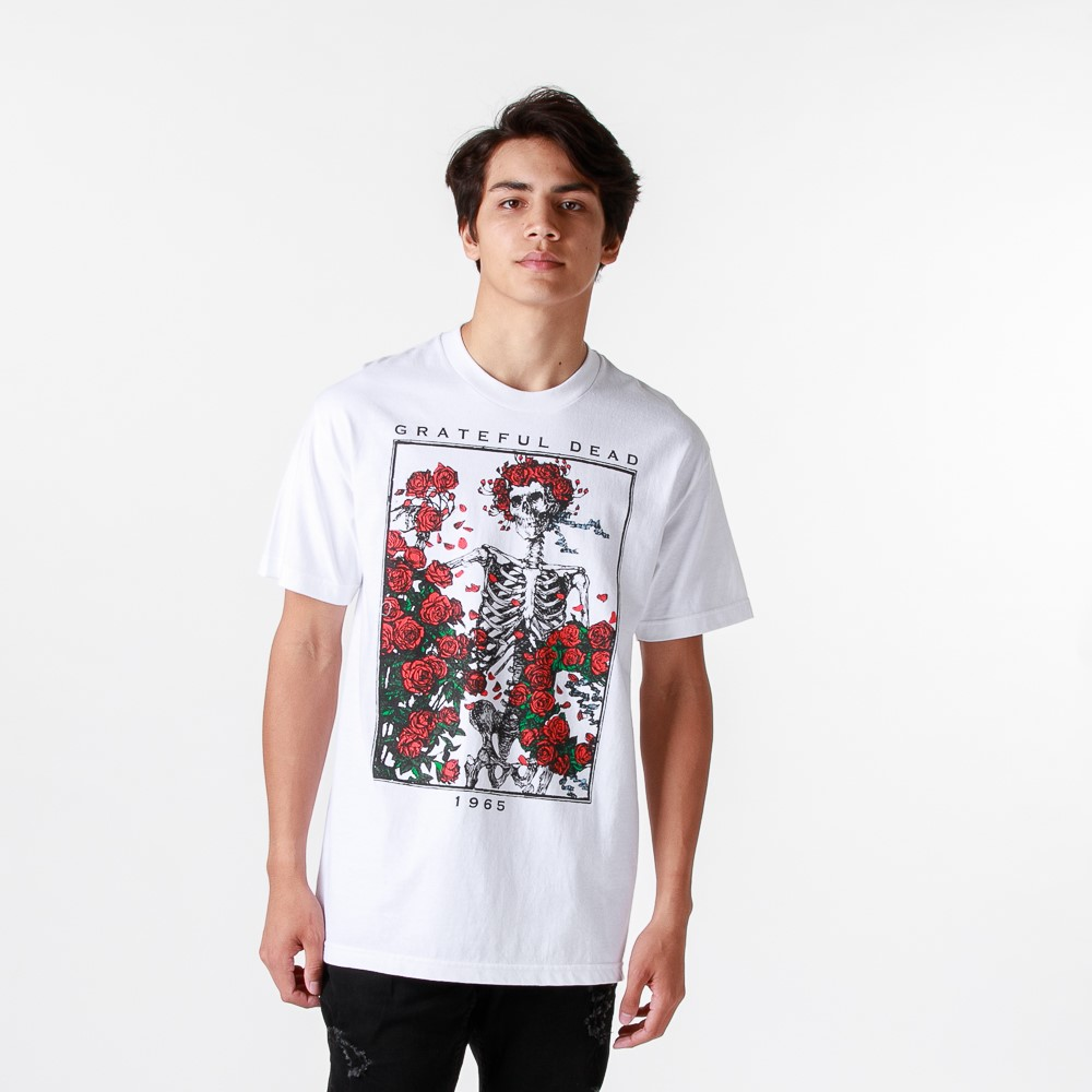 Mens Grateful Dead Bertha Tee - White