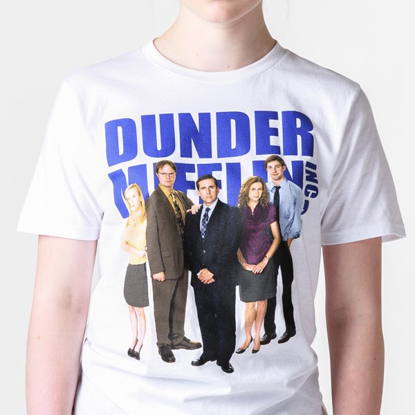 alternate view Womens Dunder Mifflin Boyfriend Tee - WhiteALT2