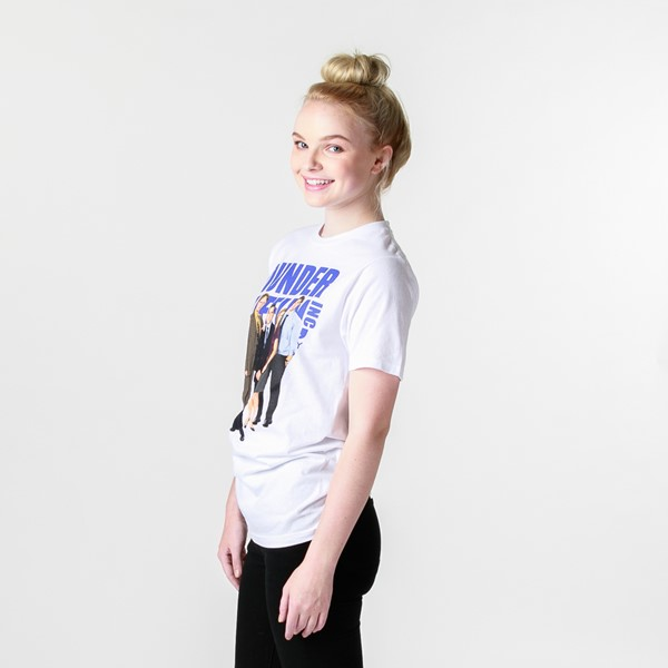 alternate view Womens Dunder Mifflin Boyfriend Tee - WhiteALT4