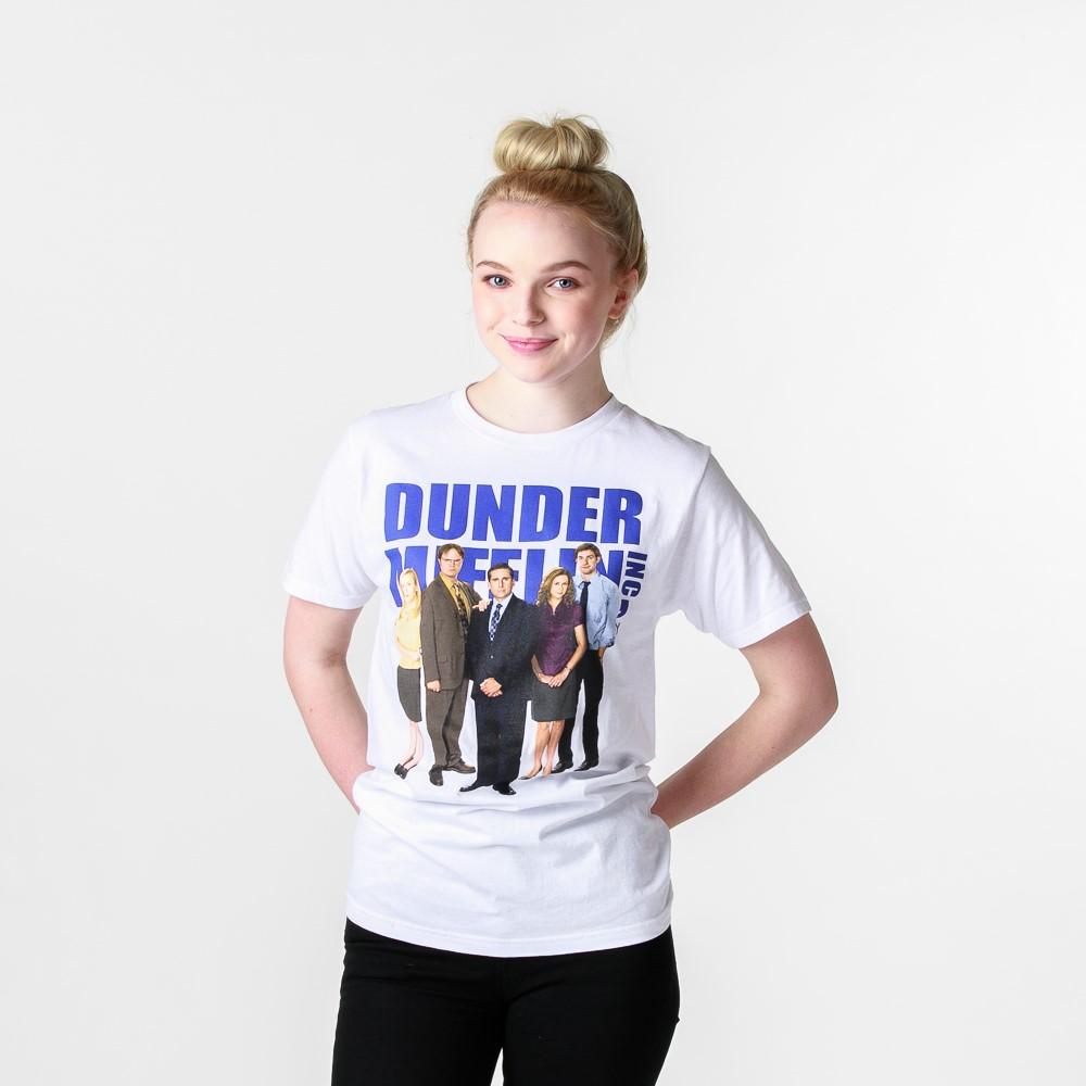 Womens Dunder Mifflin Boyfriend Tee - White