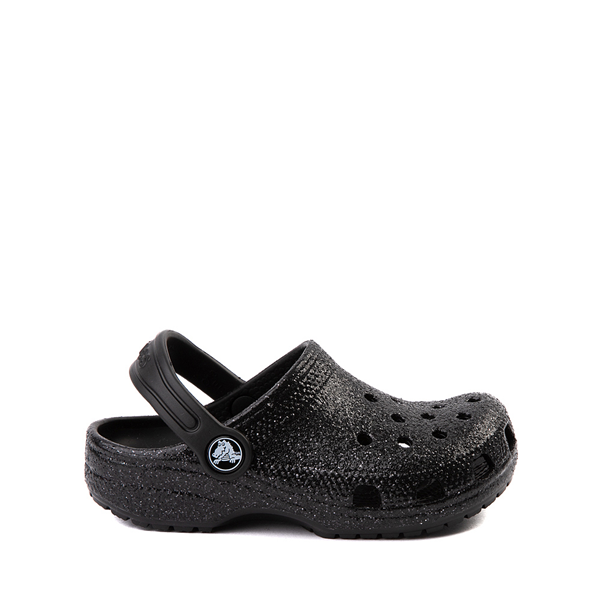 Crocs Classic Glitter Clog - Little Kid / Big Kid - Black