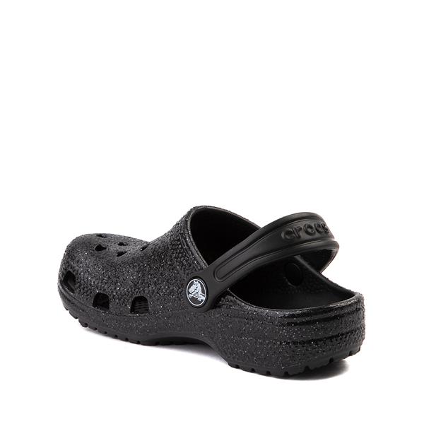alternate view Crocs Classic Glitter Clog - Little Kid / Big Kid - BlackALT1