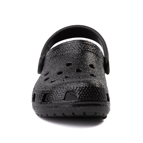 alternate view Crocs Classic Glitter Clog - Little Kid / Big Kid - BlackALT4