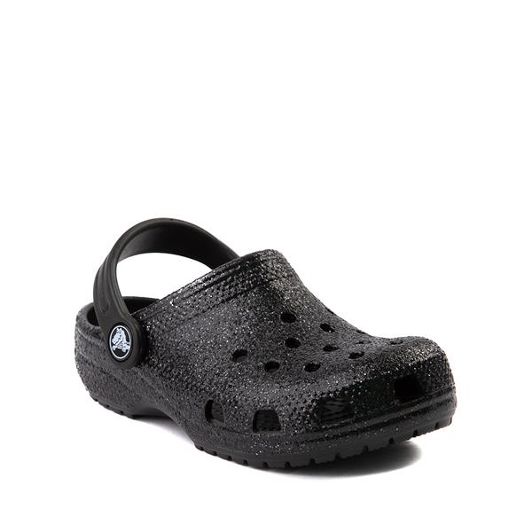 alternate view Crocs Classic Glitter Clog - Little Kid / Big Kid - BlackALT5