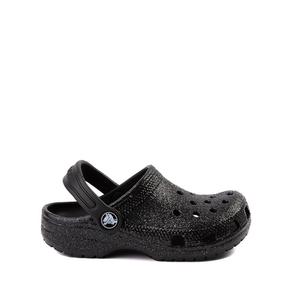 Crocs Classic Glitter Clog - Little Kid / Big Kid - Black