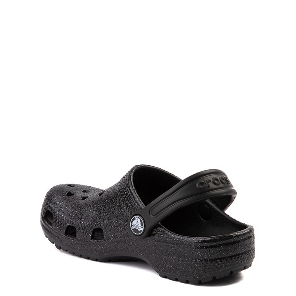 alternate view Crocs Classic Glitter Clog - Baby / Toddler / Little Kid - BlackALT1