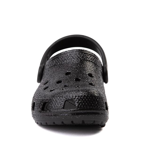 alternate view Crocs Classic Glitter Clog - Baby / Toddler / Little Kid - BlackALT4