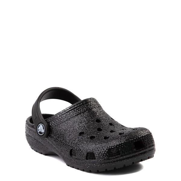 alternate view Crocs Classic Glitter Clog - Baby / Toddler / Little Kid - BlackALT5