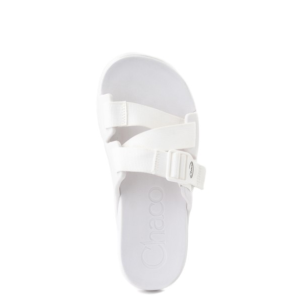 alternate view Womens Chaco Chillos Slide Sandal - WhiteALT4B